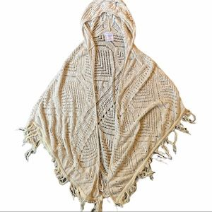 Over the shoulder poncho style hoodies cardigan XL